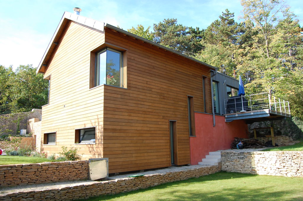Extension bardée en Red Cedar, à Beaune