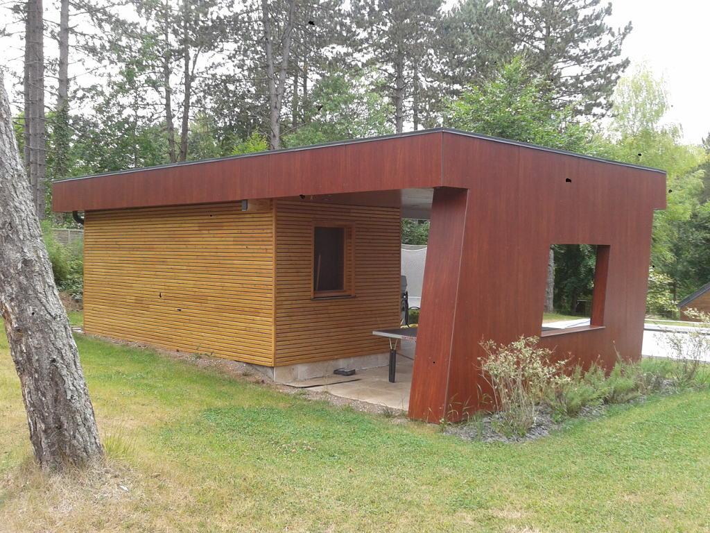 Pool House en ossature bois, Ouche, Bourgogne, Côte d'or, Beaune, Dijon, Chalon sur Saône