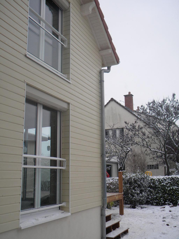 Extension ossature bois et Bardage Canexel et terrasse bois