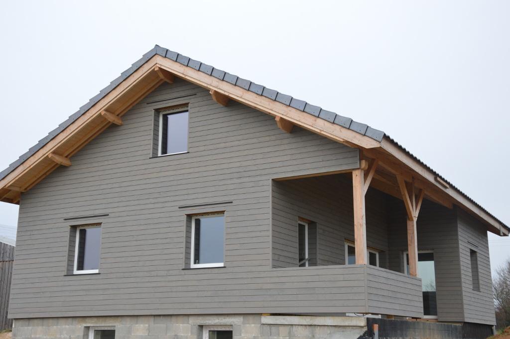 Maison ossature bois sur sous-sol maçonné