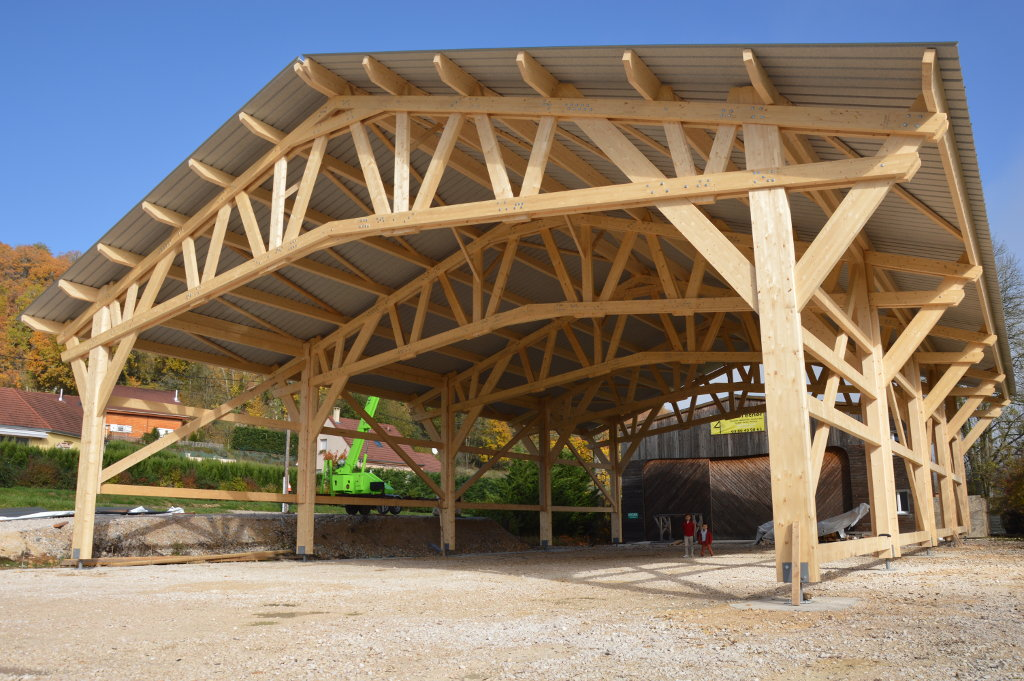 Atelier, bâtiment de stockage, hangar bois