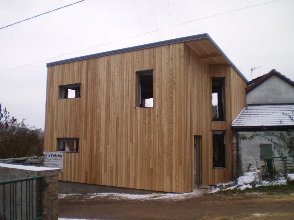 Agrandissement ossature bois, conception par un architecte de Beaune