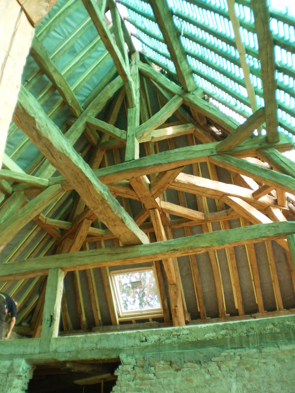 Restauration charpente en chêne